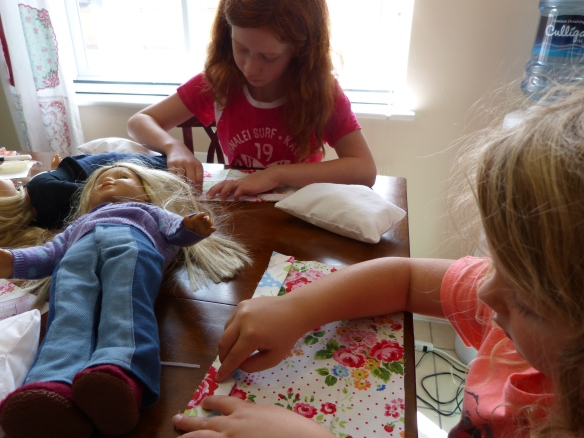 Little Ladies Stitching Society--just pinning